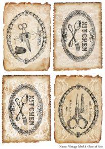 Vintage label  3  30 гр/м2