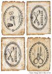 Декупажные карты Vintage label  3  30 гр/м2