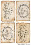 Декупажные карты Vintage label 6   30 гр/м2
